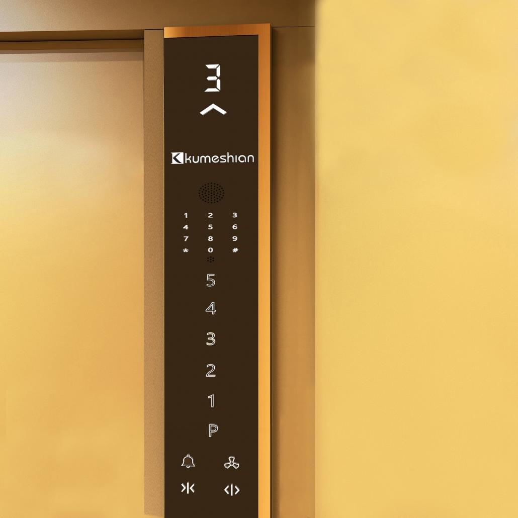 شاسی لمسی داخل کابین آسانسور