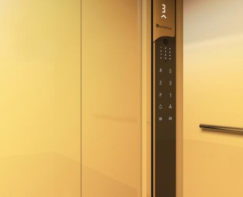 پنل تاچ آسانسور در طرح و رنگ دلخواه